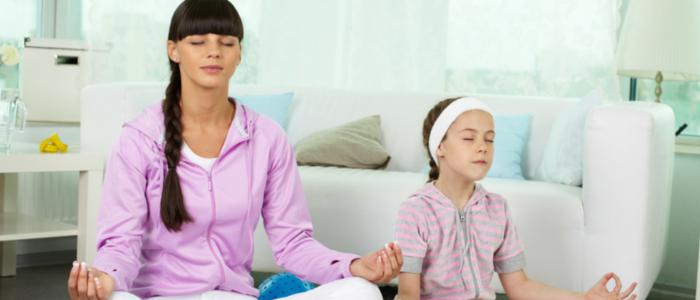 child to meditate