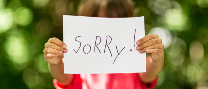 teach your child to apologize