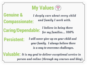 Sharon Selby's Values - Parenting Tips to Help your Child with Anxiety