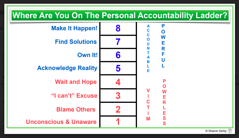 this concept of the accountability ladder seems to have first been used by  the business community, but can also be applied within our families